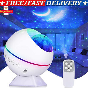 LED Galaxy Star Moon Cloud Projector Night Light Starry Ocean Wave Lamp Remote