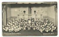 RPPC Endicott Boys Band Steamship Stage ENDICOTT NY Vintage Real Photo Postcard