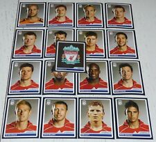 LIVERPOOL REDS ANFIELD COMPLETE PANINI FOOTBALL UEFA CHAMPIONS LEAGUE 2006 2007