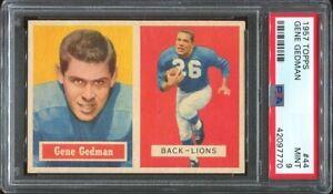 1957 Topps #44 Gene Gedman PSA 9 Detroit Lions