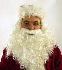 Parrucca e barba bianca babbo natale lusso Santa Claus