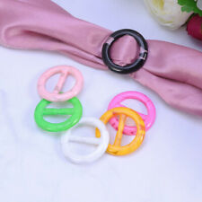 6X T-shirt Clips Round Scarf Clip Rings Decor Clothing Corner Knotted Buckles