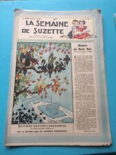 LA SEMAINE DE SUZETTE N°13 du 31/03/1949 - histoire du merle noir