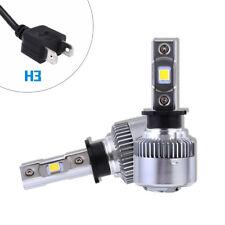 2PCS H3 LED Headlight Conversion Light Bulbs White Plug&Play 64W 9600LM