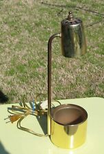 Vintage Brass Plant Lamp / Light with Built in Plant Pot
