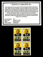 1979 - MARTIN LUTHER KING JR. - Mint -MNH- Block of Four Postage Stamps