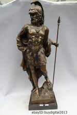 26 Western Bronze Copper Marble Art Home Decoration Roman Warrior Statue