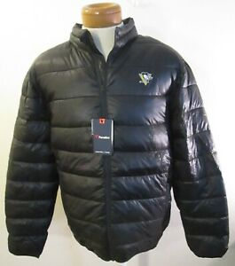 NWT Fanatics Pittsburgh Penguins Mens Polyester Puffer Jacket XXL Black MSRP$100