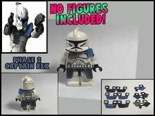 LEGO Star Wars Minifigure Lot of 2 Phase 2 Captain Rex Clone Kama and Pauldron
