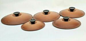 French vintage le creuset cast iron set of 5 pan lids 20cm,18cm,16cm,14cm