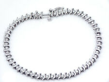 1.25 CT Round Diamond Tennis F-G VS1 Bracelet 14k White Gold 7.5 inch Women's