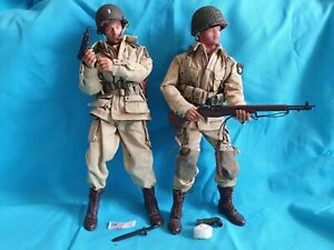 2x Figurines 1/6 US Ww2 para airborne band of brothers WWII