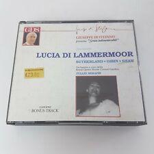 Donizetti LUCIA DI LAMMERMOOR 2 CD Box (1990) Sutherland Gibin Shaw GDS