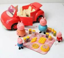 Peppa Pig Red Picnic Car, plus Family Characters - New