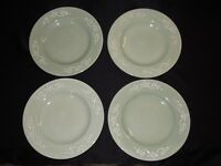 "Set of 4 STONEY HILL China SOFT COUNTRY 11 1/2"" Green Dinner Plates"