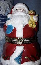 Mr Christmas Musical Porcelain Santa Ornament Revolving Reindeers Jingle Bells