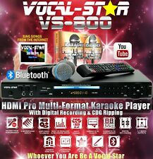 More details for vocal-star vs-800 cdg dvd bluetooth karaoke machine 2 microphones & 150 songs