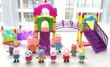 Movie Figures Peppa Pig Family & Friends With Big Sliding Amusement Park TV Toys