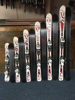 K2 JSL skis for Juniors in various size ranges