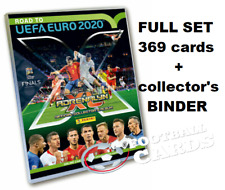 ROAD TO EURO 2020 PANINI ADRENALYN XL FULL SET 369 CARDS BINDER LIMITED