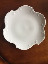 "Haas Czjzek White Porcelain Plate 8 - 8 ½"" Czech Republic Salad Dessert"