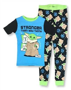 Boys Large 10 Star Wars the Mandalorian Baby Yoda The Child Pajama Shirt Pant PJ