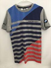 Men's Puma Blue/Red/Gray Stripe BMW Motorsport T-Shirt Size S