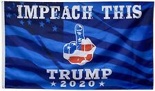 TRUMP IMPEACH THIS FINGER TRUMP 2020 FLAG 3X5FT BLUE Banner
