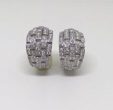 Cartier Panthere Oriane Diamond 18K White Gold Earrings Box Papers