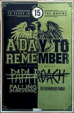 A DAY TO REMEMBER | PAPA ROACH | FALLING IN REVERSE 2018 Ltd Ed RARE Tour Poster