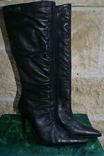 BUFFALO London Stiefel schwarz Echtleder Gr. 38 / UK 5 wie NEU!