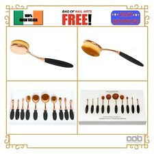 10pcs Makeup Brushes Foundation Powder Eyebrow Oval Shape Make up Tools Set EU