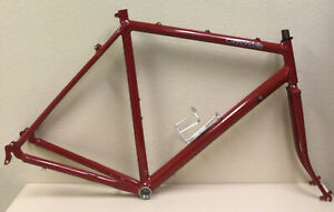 CANNONDALE  FRAME AND FORK LARGE ALUMINUM TUBES STEEL FORK