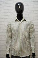 Camicia Uomo LACOSTE Taglia 39 L Camicetta Manica Lunga Shirt Righe Hemd Maglia