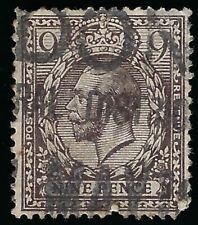 1912 Great Britain Nine Pence King George V Used Stamp Scott 170