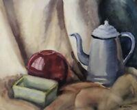 EDITH GARDNER - 1940 Still Life - American Original Watercolor Painting - Signed