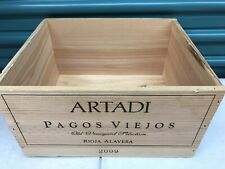Wine Box Case Wooden Crate Holds 6/750ml Spain Artadi Rioja