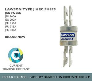 LAWSON JSU 160A 200A 250A 315A 400A J TYPE LAWSON FUSES BS88 415V AC 80KA