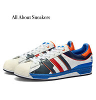ADIDAS SUPERSTAR 50 WHITE, BLUE & SCARLETMen's Trainers All Sizes Limited Stock