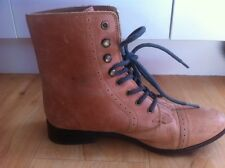 Ladies Tan Leather KIMCHI BLUE Boots AUS Size 6 EU 37