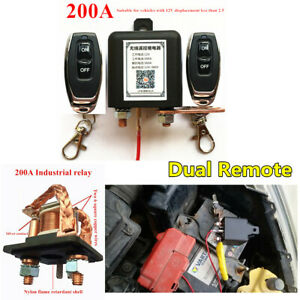 Car Battery Disconnect Cut Off Isolator Master Switch With Dual Remote Control
