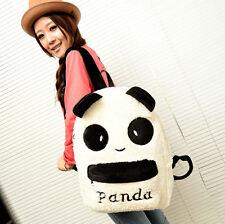10PCS Girl Travel Bag Girl Cute Simple Plush Panda Pattern Shoulder Backpack