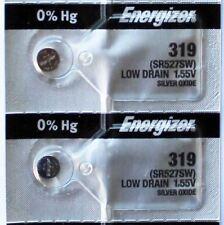 2PC Energizer 319 SR527SW Silver Oxide Battery