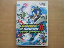 Nintendo WII - Sonic Riders Zero Gravity - Manual included