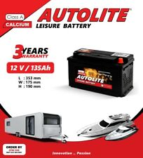 135 AH 12V LEISURE BATTERY FOR CARAVAN CAMPERVAN MOTORHOME & Boats DEEP CYCLE