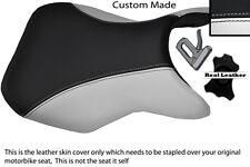 WHITE & BLACK CUSTOM 11-12 FITS SUZUKI GSR 750 FRONT RIDER LEATHER SEAT COVER
