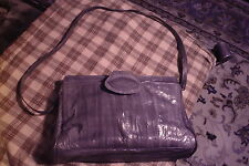 Vintage GENUINE EEL SKIN Purse Hand Bag MADE IN KOREA