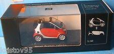 SMART FORTWO CABRIO 2003 RED SILVER MINICHAMPS 1/43 NEW