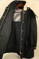 #157 Burberry Brit Hartlington Hooded Cotton Blend Parka Size 10  RETAIL $995