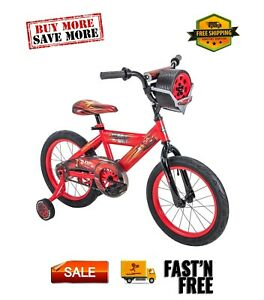 "Huffy 16"" Disney / Pixar Cars Lightning McQueen EZ Build Kids Bike Sounds, Red"